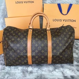 SOLD!KEEPALL 50 Authentic Louis Vuitton Travel Bag